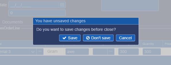 warning save
