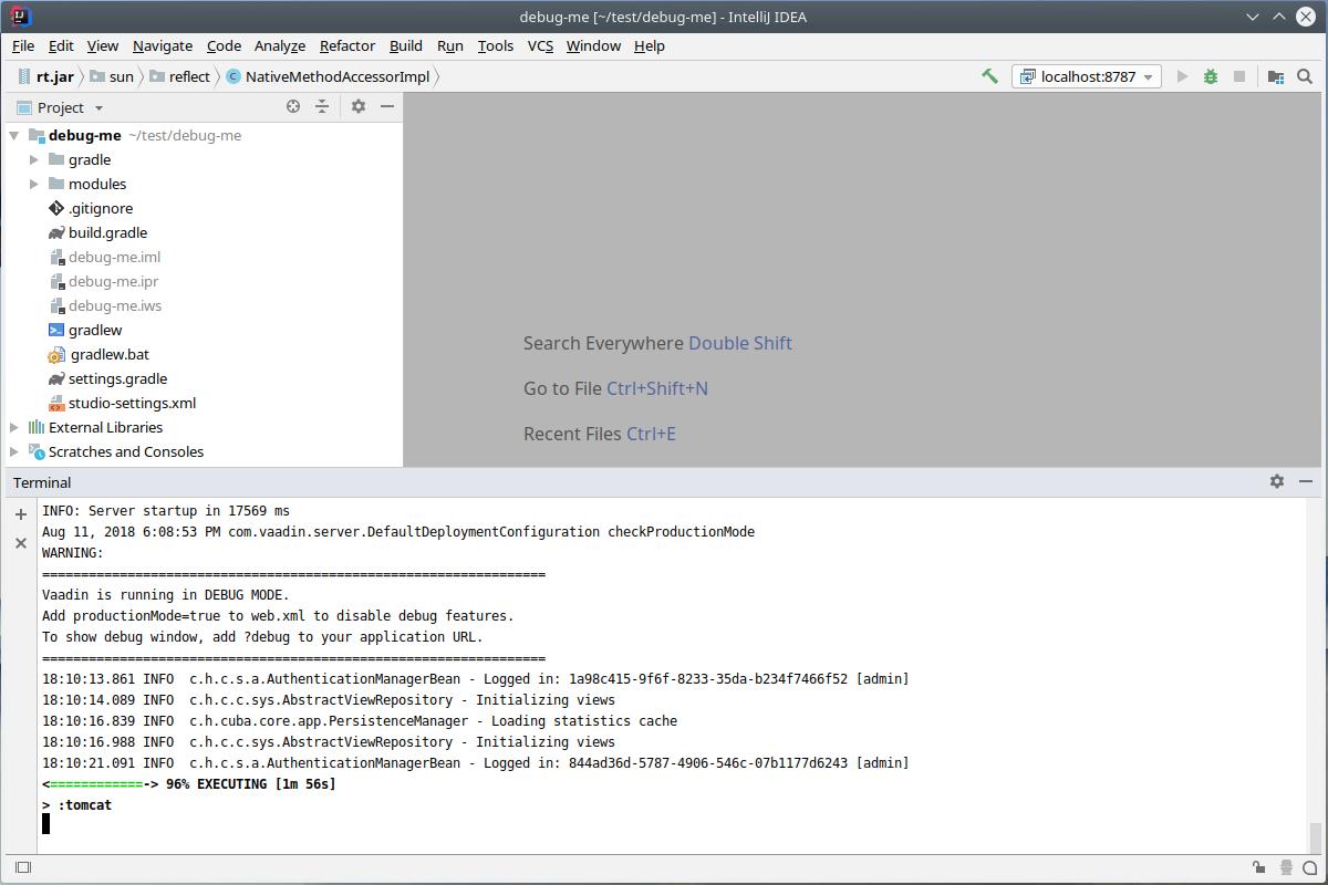 Hidden gem of debugging - Gradle tomcat task - Community How To's