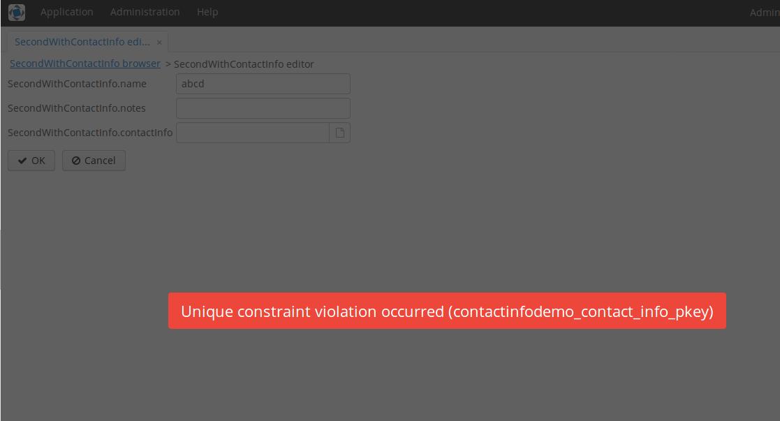 Unique Constraint Violation
