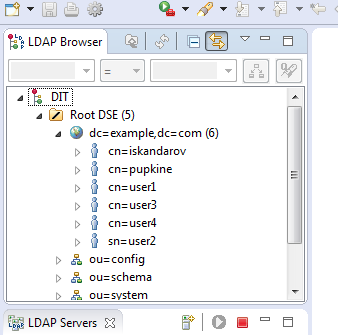 How to start a local LDAP server and connect a CUBA