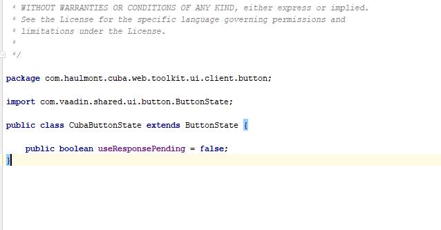 Override default cuba methods/properties - Support - CUBA