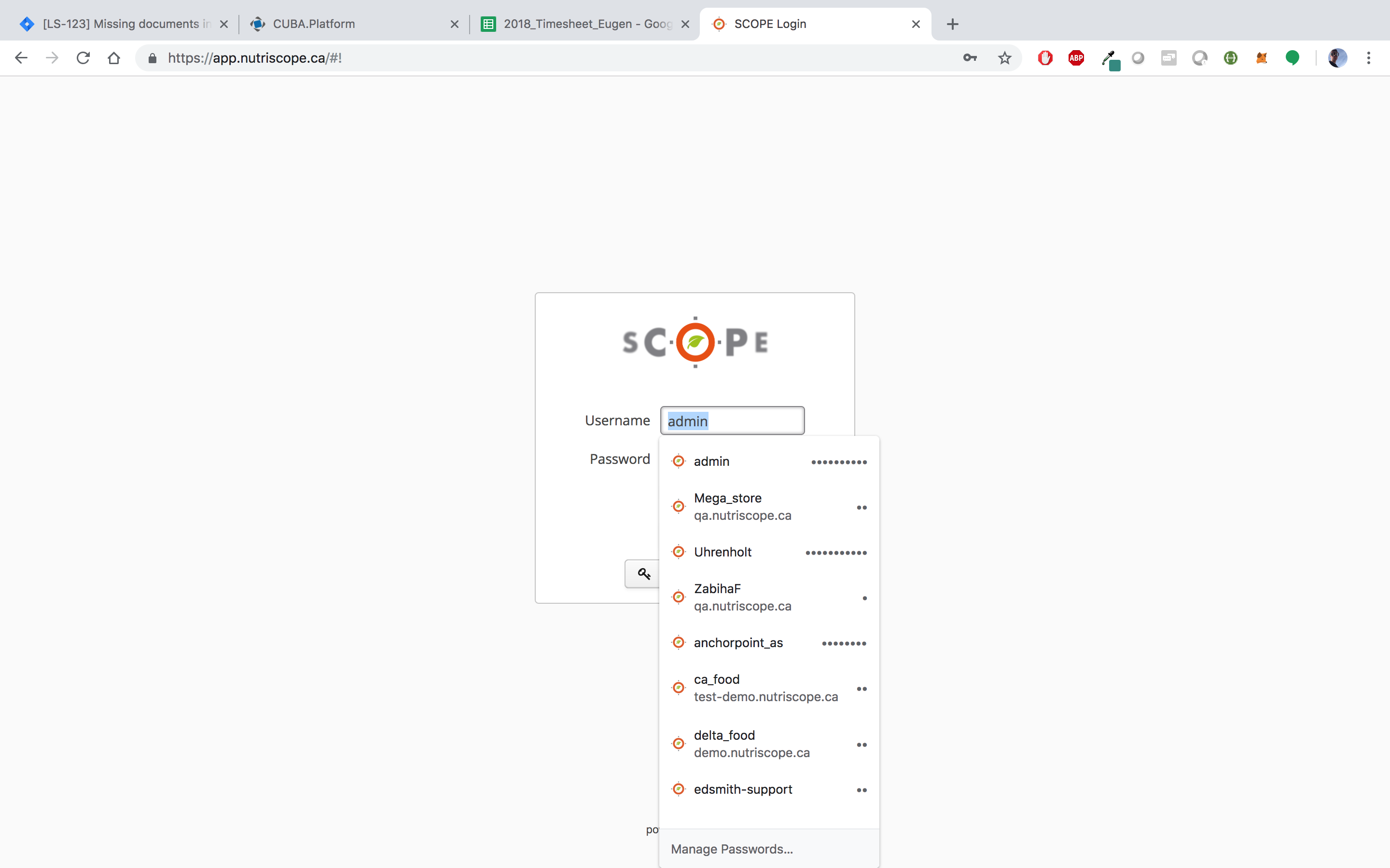 Browser credentials autocomplete do not work with the hover