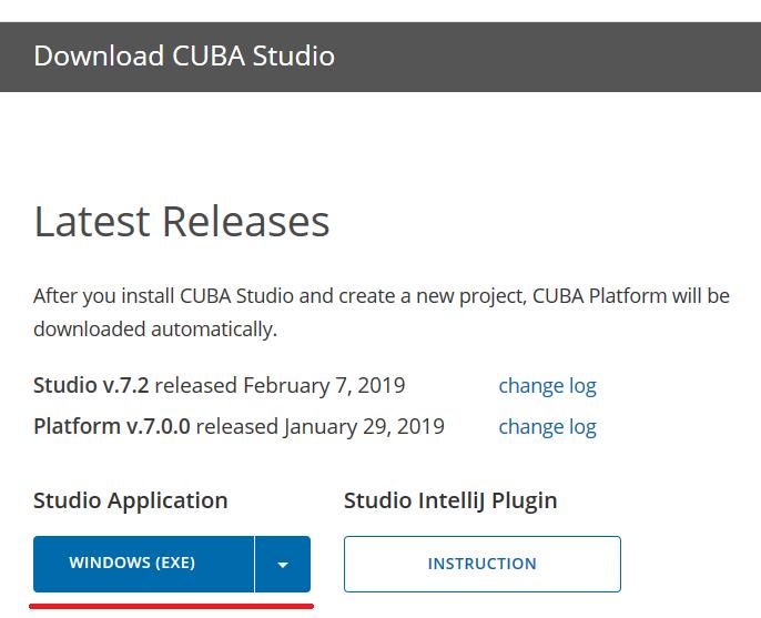 CUBA Studio 7 plugin & CUBA old plugin - Support - CUBA Platform
