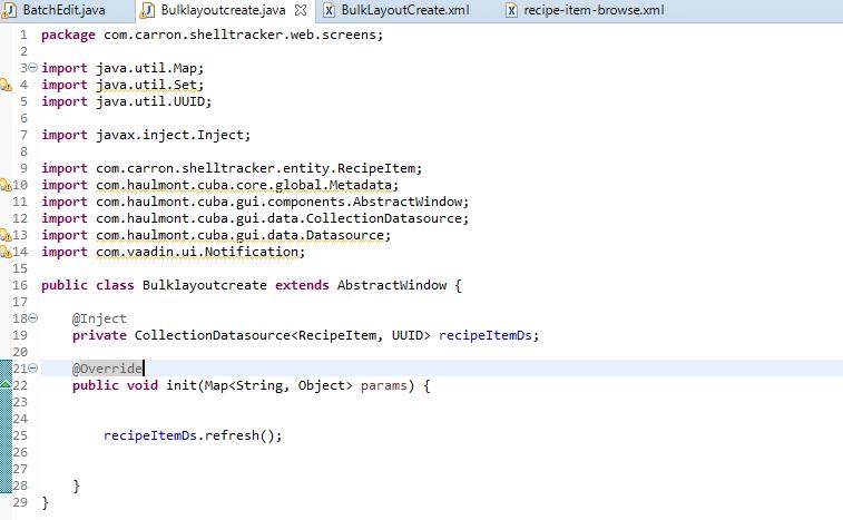 LookupField not displaying any values - Support - CUBA Platform