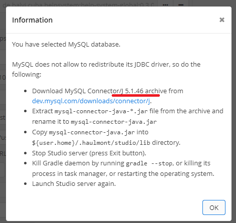 MySQL Connector Problem - Support - CUBA Platform